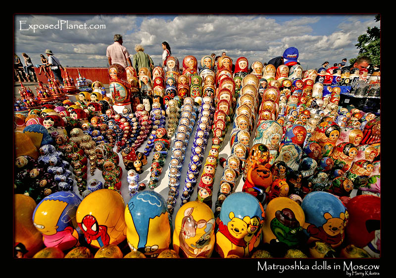 Matryoshka dolls at the University viewpoint, Moscow
