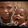Merry X-mas, Maasai child with mother, Tanzania