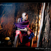 Inside a Masai house, Tanzania. About kerosene lamps and solar-powered LED lights