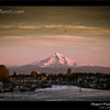 Mount Hood from Bridgeton, Portland in fall