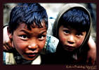 More street kids in Phakding, Nepal.