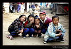Street children in Phakding, Nepal