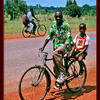 Photo of Cyclist at the equator, Uganda on ExposedPlanet.com